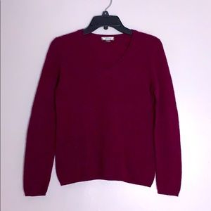 Charter Club Cashmere V neck pullover sweater smal